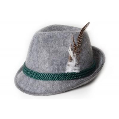 Foto van Tiroler hoed lichtgrijs Deluxe