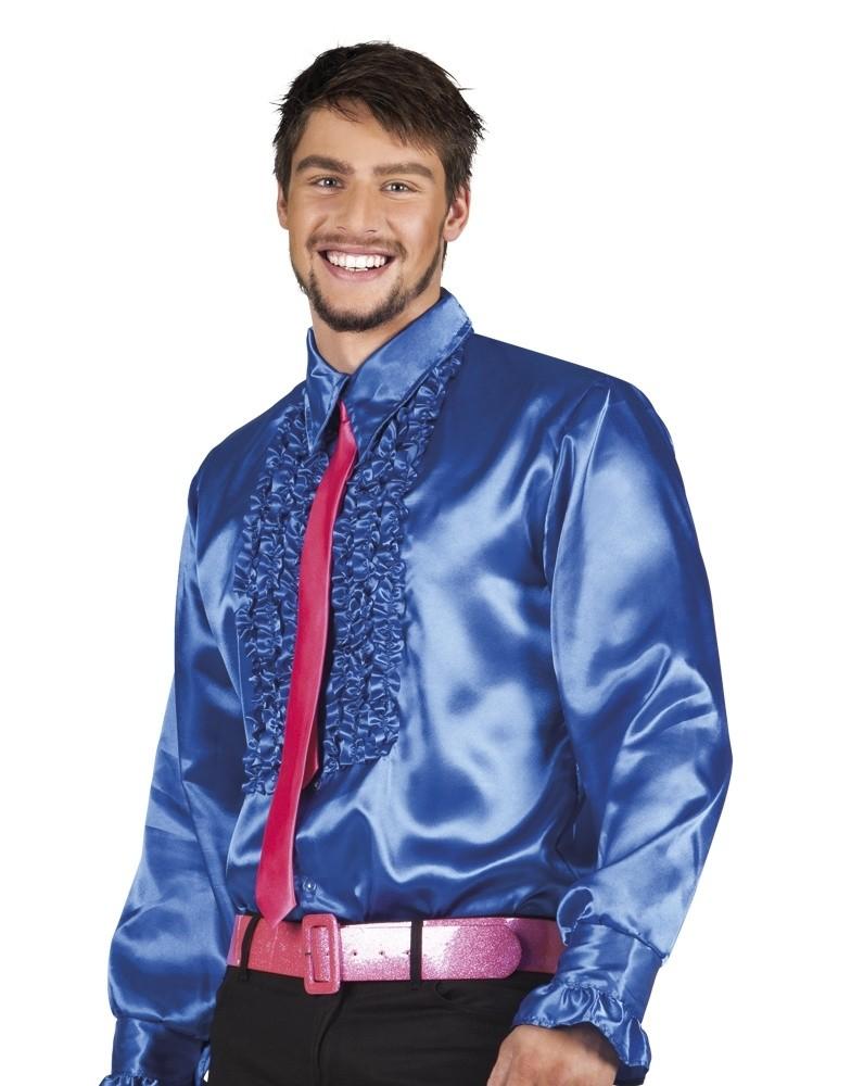 1b9e793a43ce15 Disco blouse blauw kopen  – Confettifeest.nl