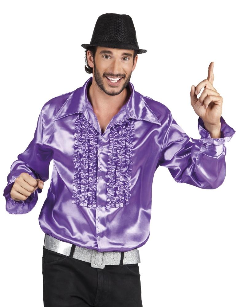 814bb8ad4c46ee Disco blouse paars kopen  – Confettifeest.nl
