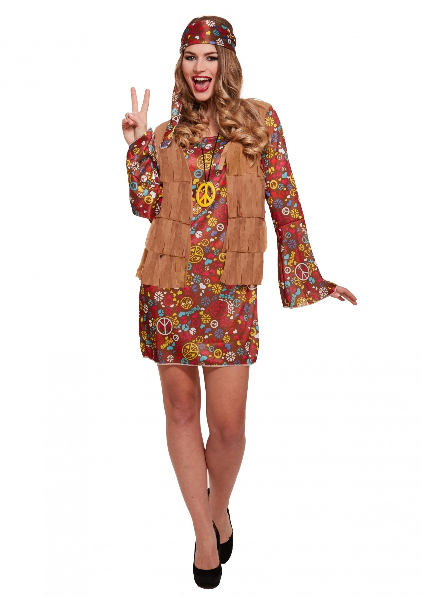65ab23abe3c100 Hippie jurkje groovy - Confettifeest.nl