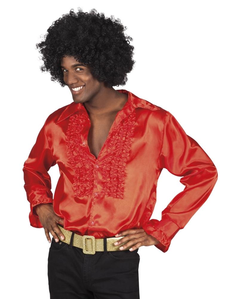 55b36a76cf495f Disco blouse rood kopen  – Confettifeest.nl