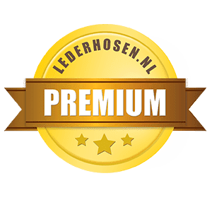 premium lederhosen - Rood wit geblokt overhemd