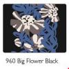 Afbeelding van Zilch sjaal wol zwart big flower black