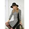 Afbeelding van Smashed Lemon gebreid jurkje zwart creme 20638