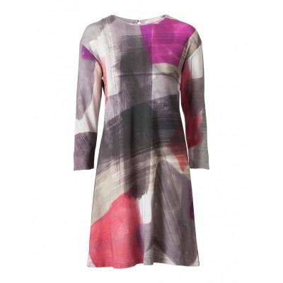 Foto van Oilily jurk viscose grijs rosa devlynn