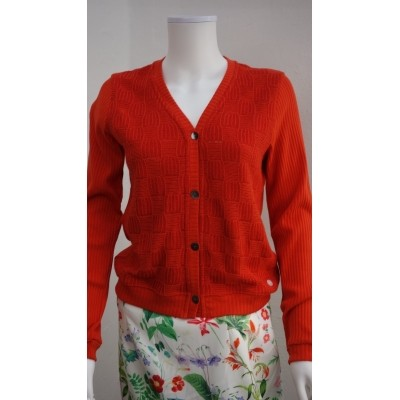 Foto van Oilily vestje linnen katoen rood Tina
