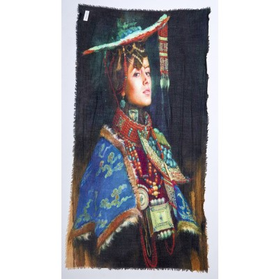 Foto van Otracosa sjaal wol 100 x 180 cm Ethnic woman