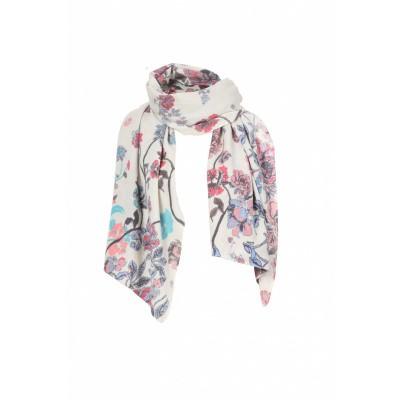 Foto van IVKO sjaal wol bloem off-white 82551
