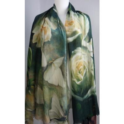 Foto van Otracosa sjaal wol 100x180 cm Roses