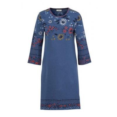 Foto van IVKO jurk katoen jeans blauw 192540