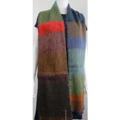Foto van Inti sjaal wol handgeweven multi 1807R