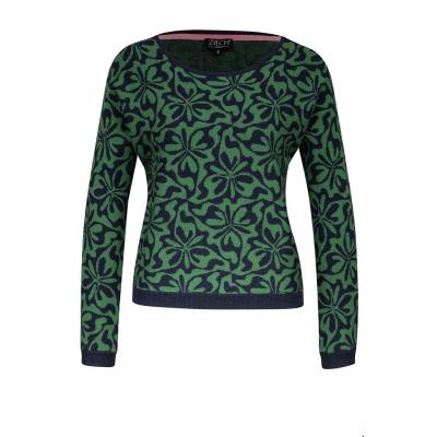 Foto van Zilch top sweater groen round neck