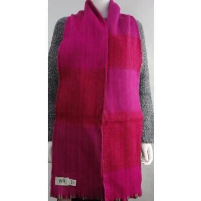 Foto van Inti sjaal wol handgeweven fuchsia1807l