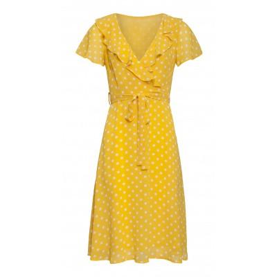 Foto van Smashed Lemon jurk stippel geel 20073