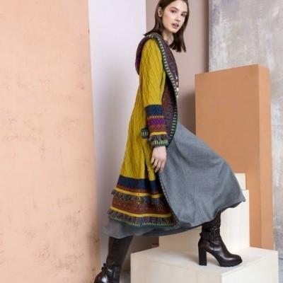 Foto van IVKO vest lang wol peridot 82601