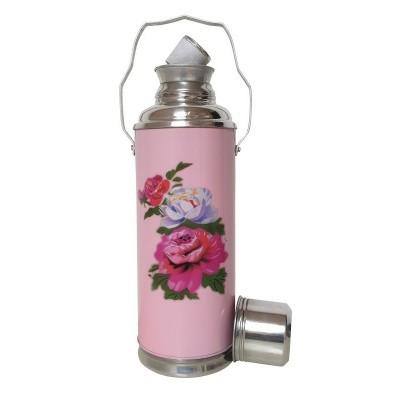 Foto van thermosfles chinees roze roos