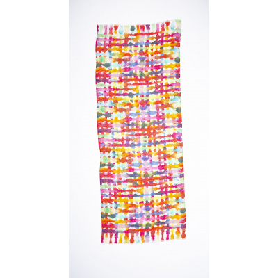Foto van Otracosa sjaal linnen geometrisch 3005