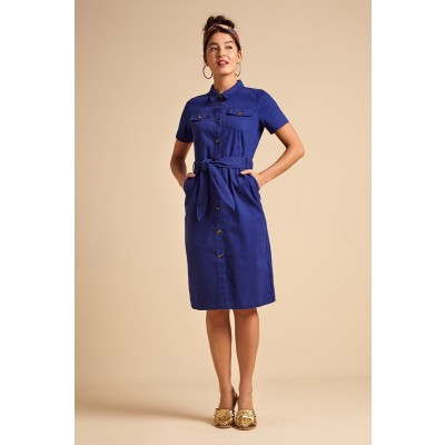 Foto van King Louie jurk Katy blauw Sturdy