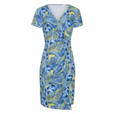 Foto van Smashed Lemon jurk blauw geel 19014
