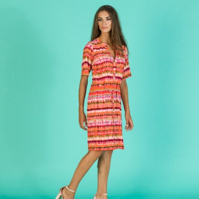 Foto van WAX jurk viscose crepe multi Hopper