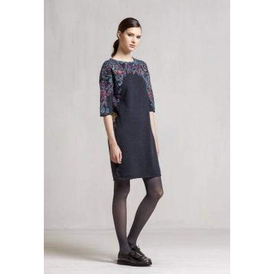 Foto van IVKO jurk wol antracite blauw 72529