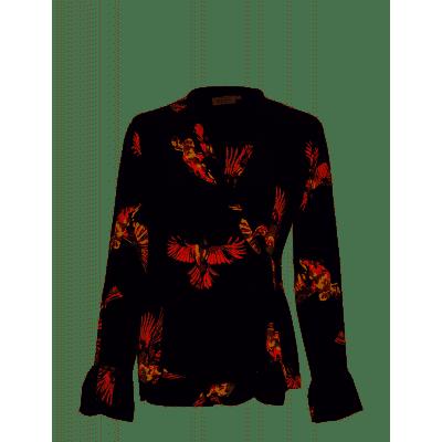 Foto van Masai blouse zwart bloem Immi