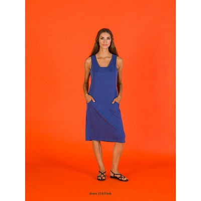 Foto van Wax jurk viscose middenblauw inky