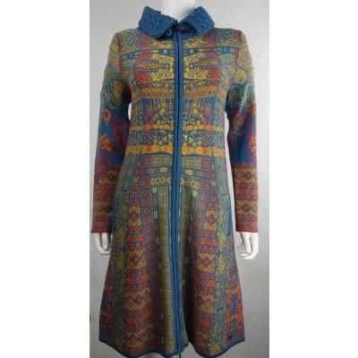 Foto van Kooi vest wol blauw 18135