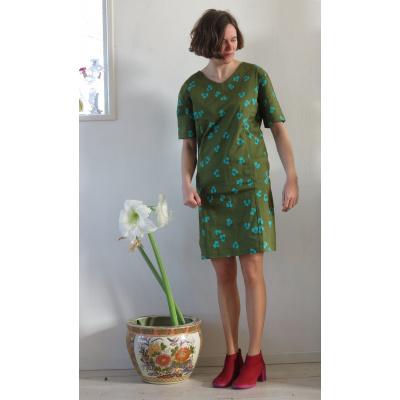 Foto van Enolah jurk katoen olijfgroen Elsie