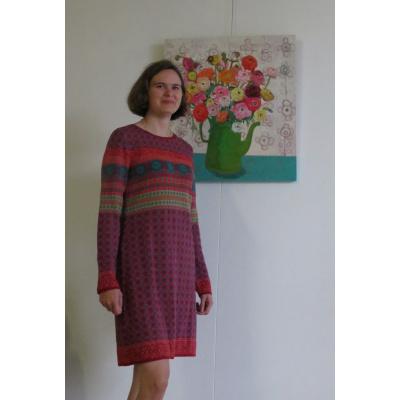 Foto van Dunque jurk eco katoen rood