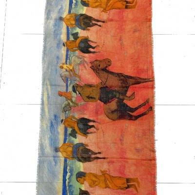 Foto van Otracosa sjaal wol 70 x 180 cm Gauguin 2745