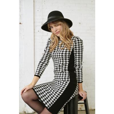 Foto van Smashed Lemon gebreid jurkje zwart creme 20638