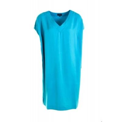 Foto van Zilch tuniek jurk viscose turquoise