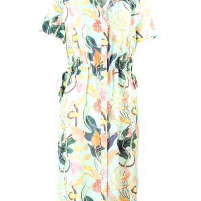 9444124a7b1a09 Zilch jurk viscose mint jungle