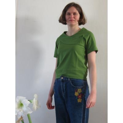 Foto van Enolah t-shirt top olijfgroen Bessy