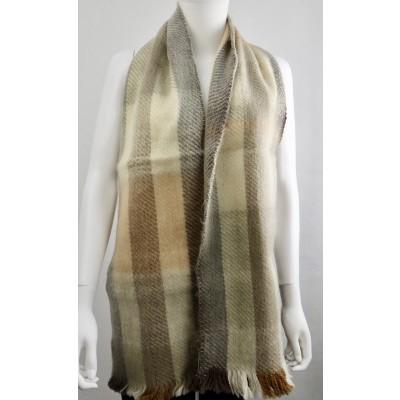 Inti sjaal alpaca handgeweven beige