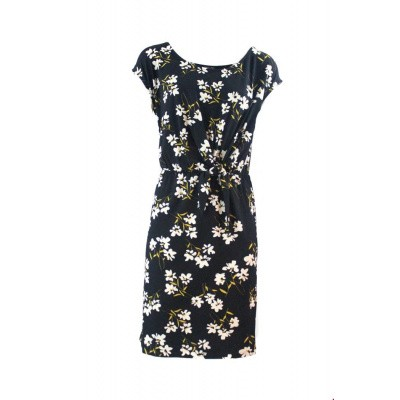 Foto van Zilch jurk viscose zwart daisy