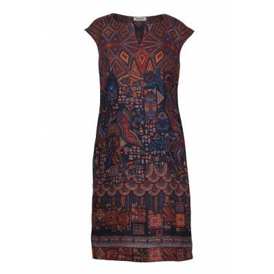 Foto van IVKO jurk linnen donkerblauw 191641