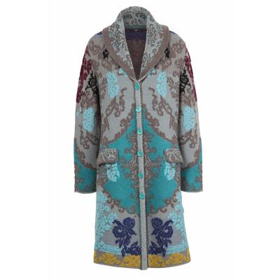 Foto van IVKO vest jas coat floral grijs 202503