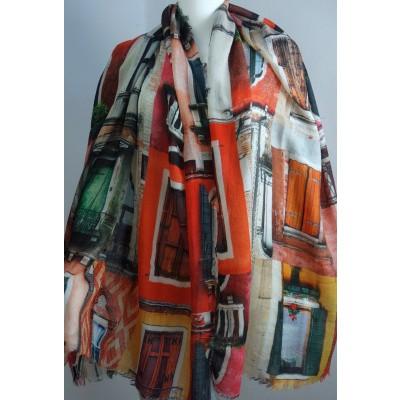Foto van Otracosa sjaal wol 100x180cm Doors