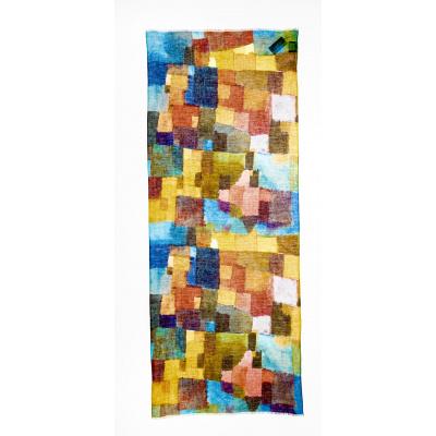 Foto van Otracosa sjaal linnen katoen blauw 4078