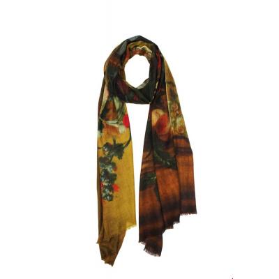 Foto van Zilch sjaal wol olijgroen baroque