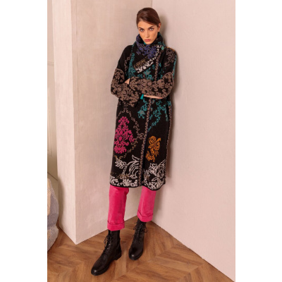 Foto van IVKO vest jas coat floral zwart 202502