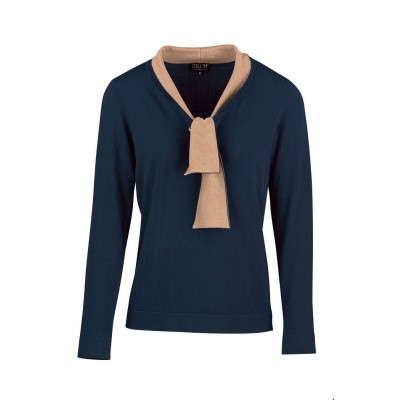 Zilch top bamboo strik Navy