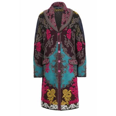Foto van IVKO vest jas coat floral zwart 202503