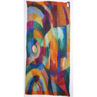 Foto van Otracosa Sjaal wol 70 x 180 cm geometrisch