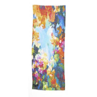 Foto van Otracosa sjaal linnen misty flowers 4105