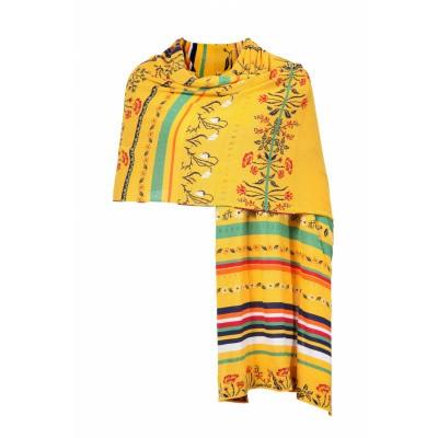 Foto van IVKO sjaal dun gebreid geel 191581