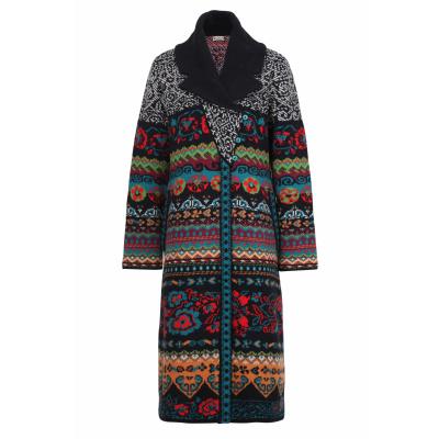 Foto van IVKO vest lang jas wol zwart 192601