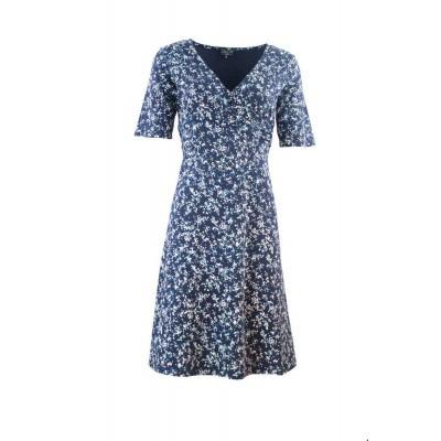 Zilch jurk katoen navy blossom